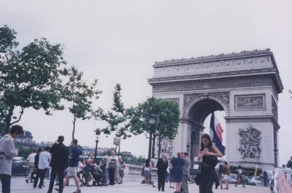 this is l'arc de triomphe in paris;it's near the end of champ d'elysses